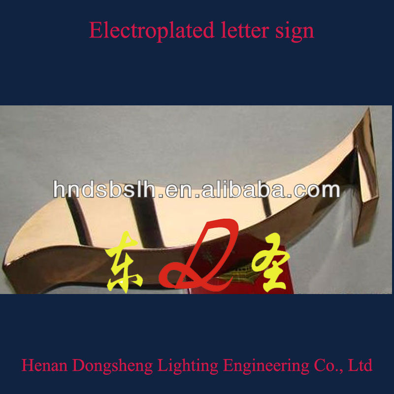 Electroplated metal logo for custom