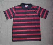 Closeout Clothing Fancy Colorful Striped Polo T-shirt For Men