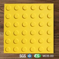 Yellow Color TPU Material cheap patio slabs for sale With 300mm Side length For Blind People