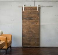 Westin hotel Slim line wall Walnut veneer sliding bathroom door with hardwares