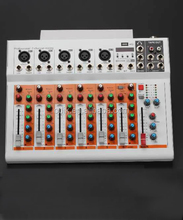 F7 usb mini audio mixer sound equipment mp3 bluetooth Professional Sound Mixer 7 channel
