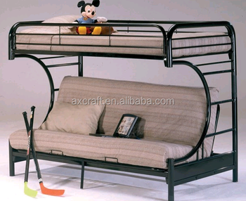 Strong steel tube metal frame folding bunk bed from China factory