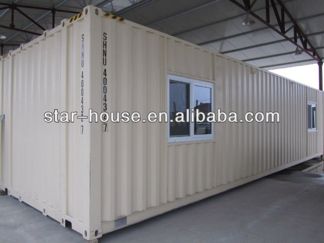 Container house of aluminum door