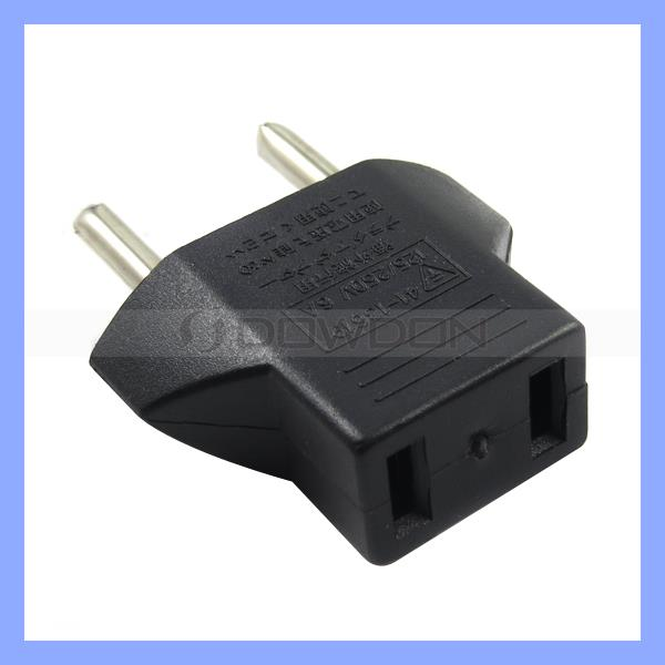 Travel Changer Adapter Plug US USA to Euro Travel Plug Adaptor 2 Flat Jack To 2 Round Pin Plug Adaptor