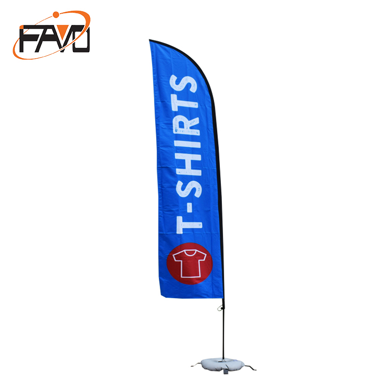 Advertising Promotion Teardrop Feather Beach Flag Flying Printing Banner Favoshow Display