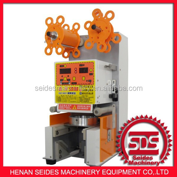With 2 years warrantee automatic cup sealer/automatic liquid filling sealing machine