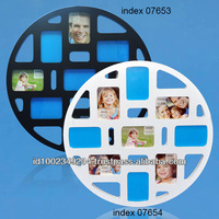 Photo Frame Circle Series Black w/ (4)2.25x3.25, (5)3.25x2.25 op. Photo Frame