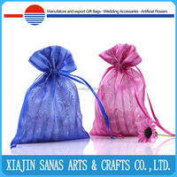 Organza fabric gift bag draw string hot selling promotional candy packing