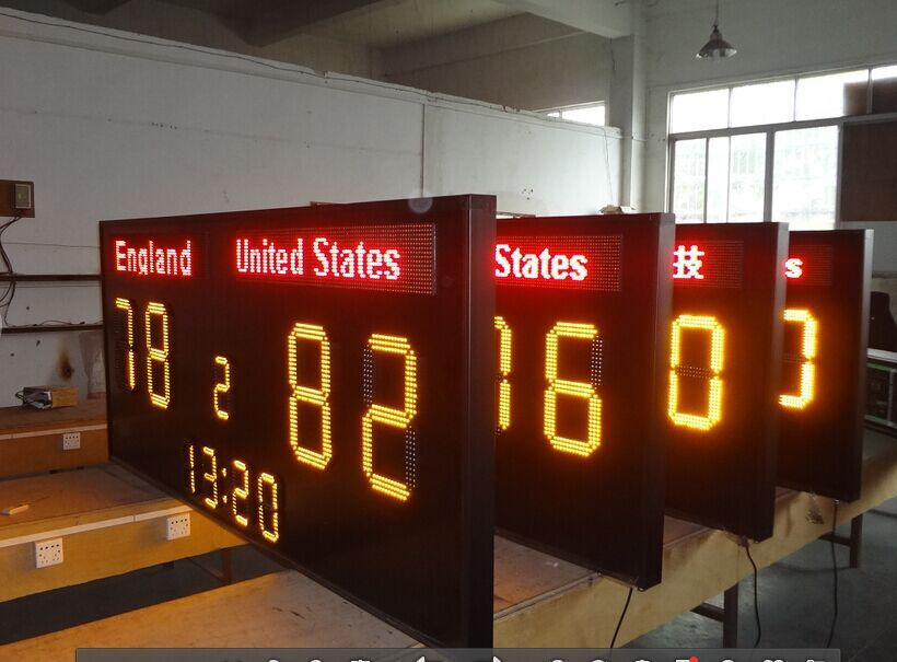 "6-64"" LED Digit Scoreboard for Basketball, tennis ball games (Gas Price,Time/Date Sign ),7 segment display"