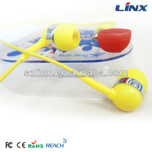 portable colorful silicone in-ear earbuds for promotion