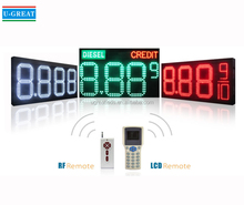 RF Wireless Numeric Display LED Gas Price Sign
