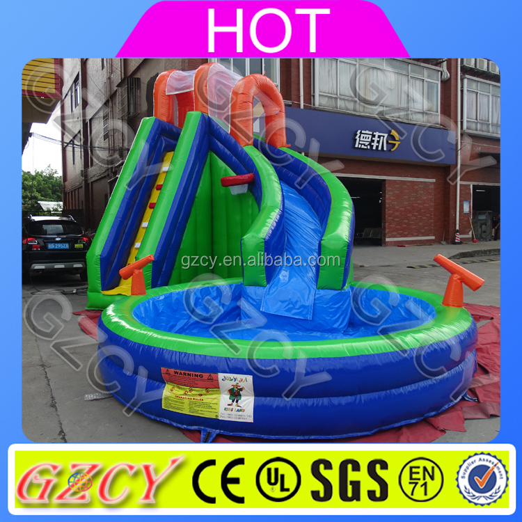 2 lane high quality inflatable water slide outdoor game