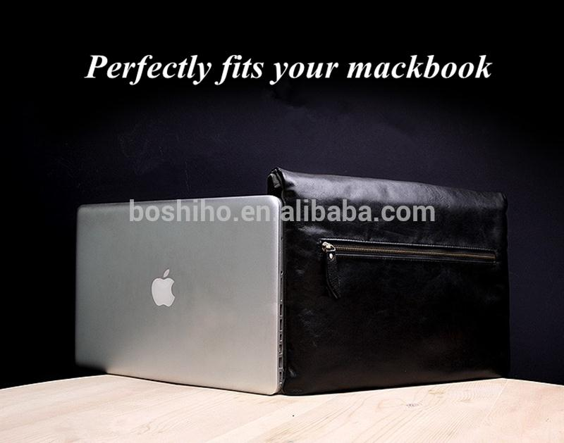 Boshiho Genuine lambskin Leather Zipper Case Cover For Mackbook air 13 macbook pro 13 macbook pro 13.3 13 inch