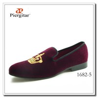 Motif Men Velvet Slippers Fashion Shoes