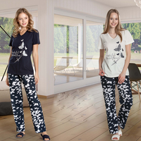 2016 comfortable two piece summer cotton pajamas girls