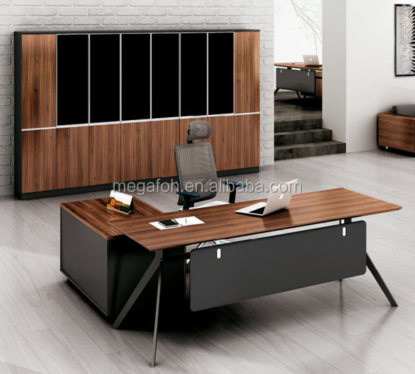 Luxury furniture manager office table, l-shape executive desk for sale(FOH-RAS03)