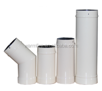 single wall enamel chimney flue pipe for pellet stove
