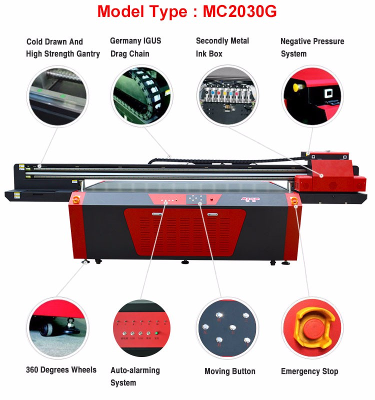 Large size UV digital wallpaper printing machine flatbed sign board printer price