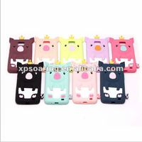 Crown pig silicone case back cover for Samsung Galaxy S2 i9100