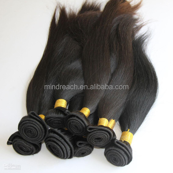 Wholesale ali baba hot products top quality 100% Indian virgin hair weft in stock, accept escrow paypal