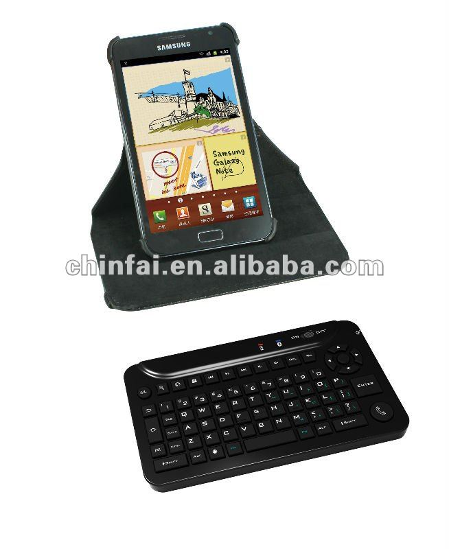 Clavier Bluetooth pour Samsung Galaxy note, Rotary détachable Bluetooth clavier