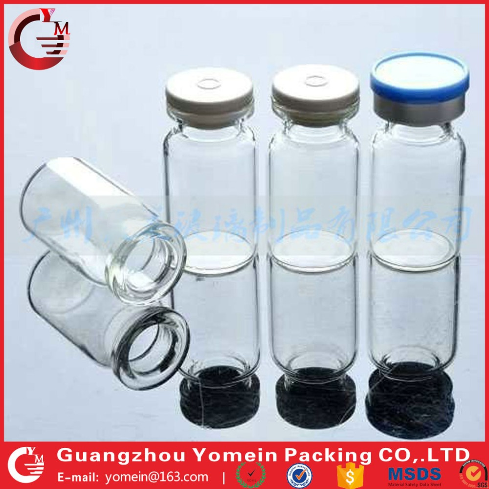 clear thin glass bottle vial as cosmetic ampoule hot wholesale..