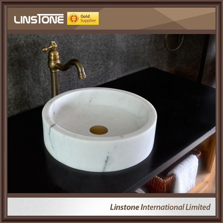 Good Quality Round White Marble Bathroom Wash Basin Price