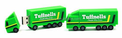 Promotional Truck Shaped USB Stick 1GB, Green pvc usb sticks pens for promo present memory for Tuffnells's gifts key