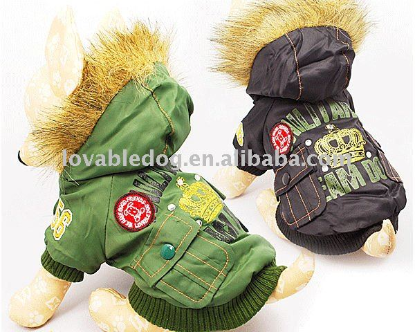 New fall&winter dog apparel American army suit pet clothes dog products