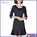 2016 New Mid-sleeveless Black Woman Dress Fashion Dresses
