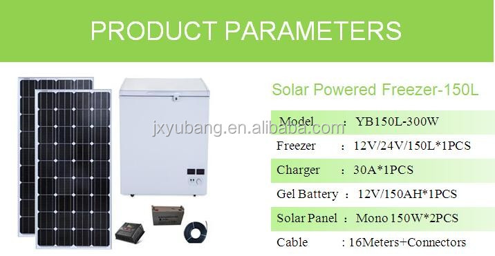 factory price YB-150L chest deep Solar Freezer refrigerator Icebox cooler 12VDC 100% Powered by Solar