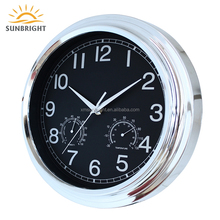 Sale Wholesale China Famous Brand The Dealer Innovative Plastic Temperature Humidity Meter Wall Clock