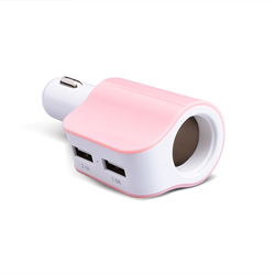 Hotest selling 2.1A Square bottom Dual USB 2 port auto mobile phone car charger for ipad