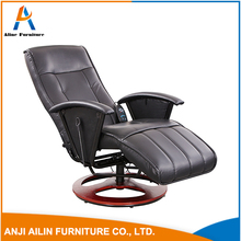 Vibration massage chair PU leather adjustable recliner chair