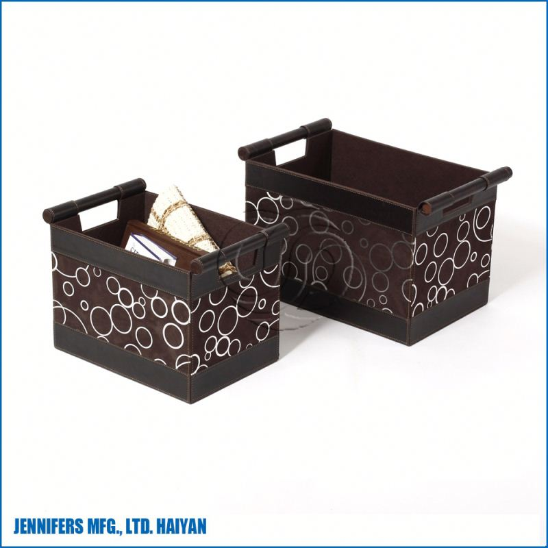 Small non-woven fabric storage boxes with handle