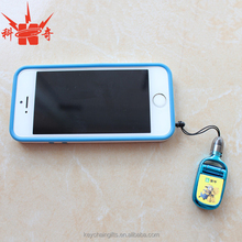 Hot sale fashion 6 kinds function plastic mobile phone charm