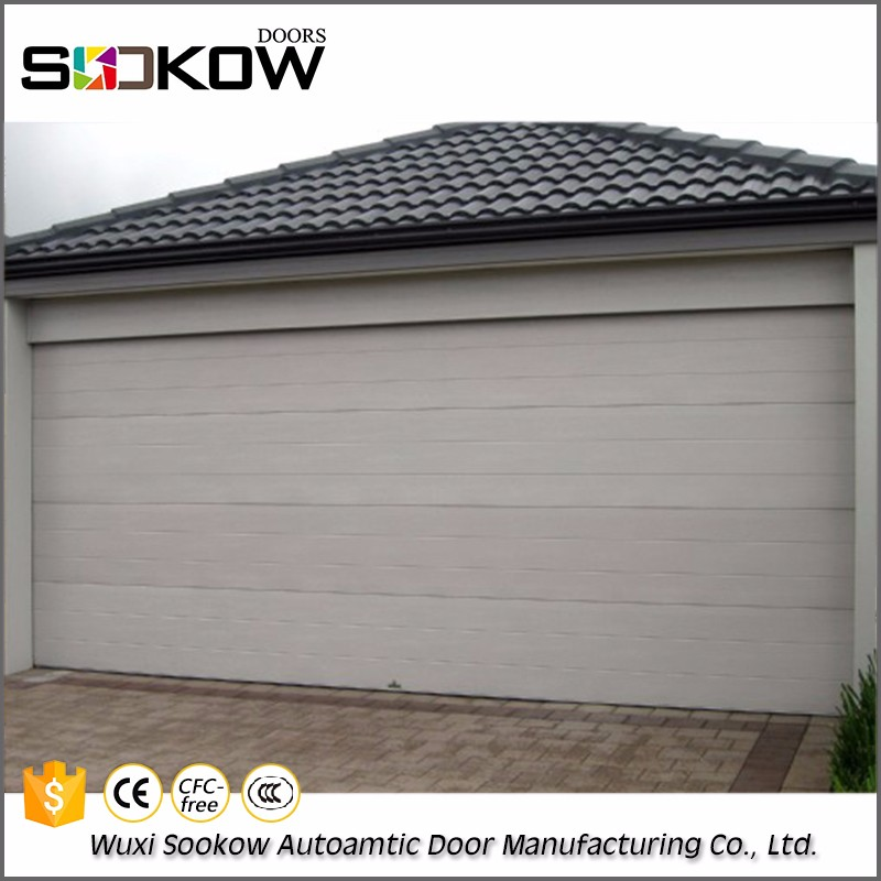 Remote Control Automatic Sectional sandwich panel Garage Door with roller