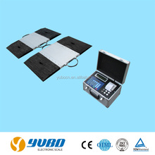 Portable axle weighing scale system