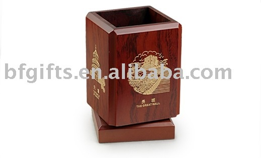 wooden pen cup/holder