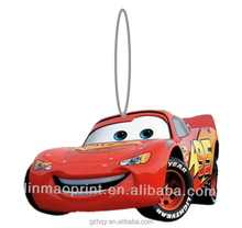 Promotional funny unique hanging car air freshener with own logo
