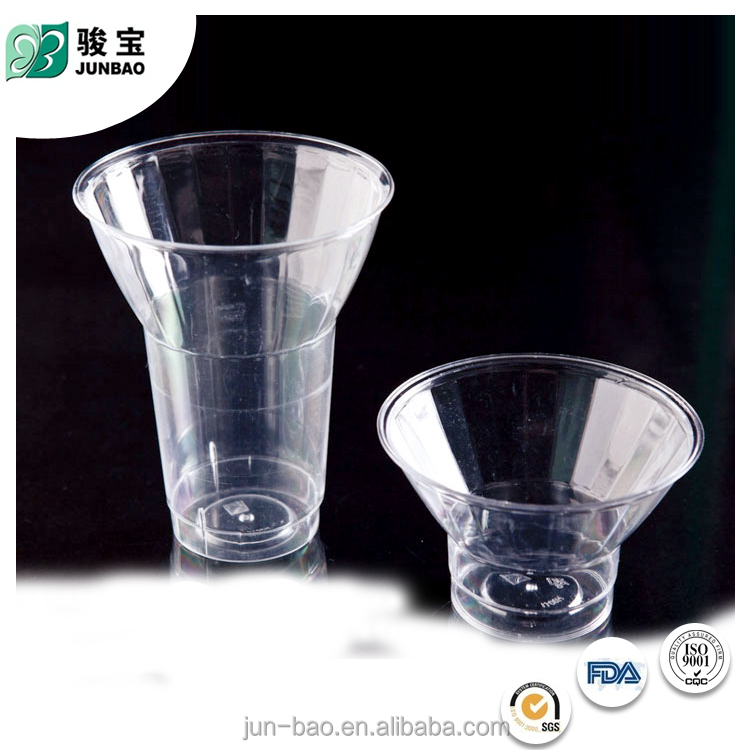 Promotional Price novel design decorative transparent plastic ice cream cup