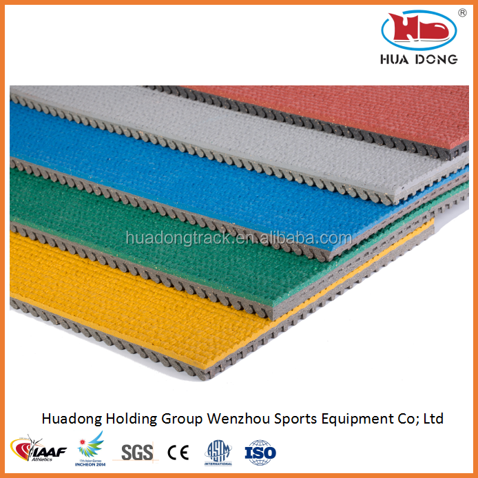 sport track and field, synthetic rubber running track roll
