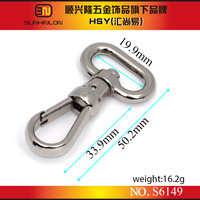 guangzhou wholesale market cheap bags stainless snap hook