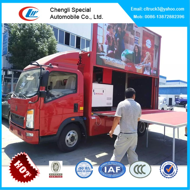 Howo advertising led mobile billboard truck for sale