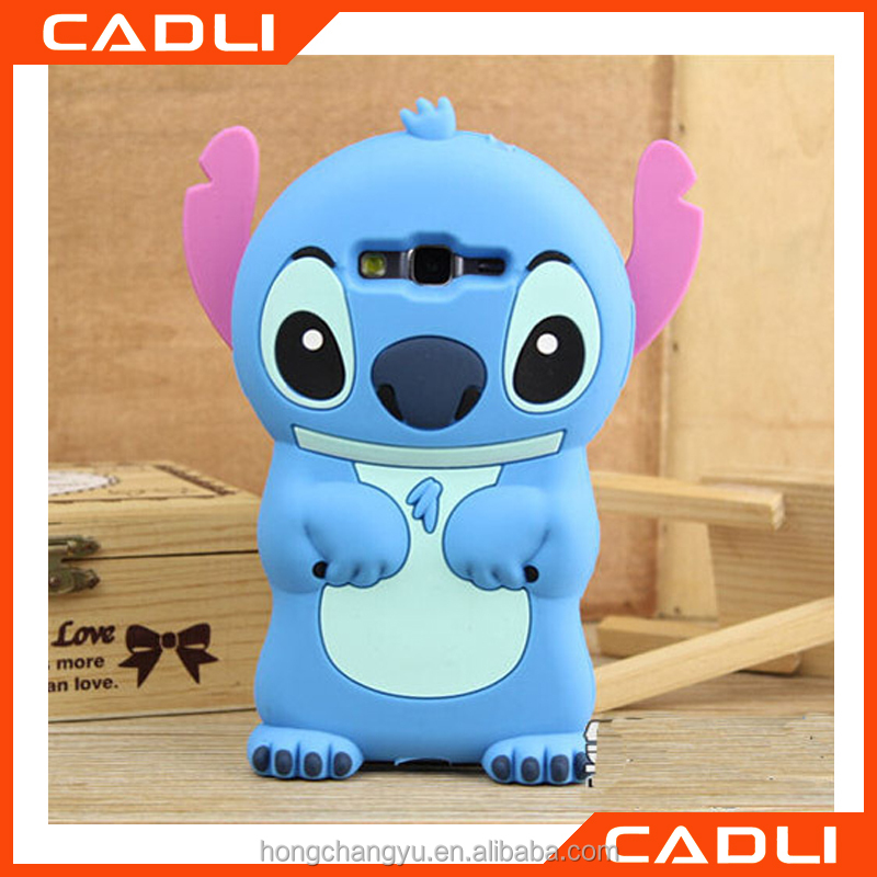 2016 New Style cute cartoon silicon material 3D shape Movable Ear cover phone Case for Apple iPhone5 5S 5C SE