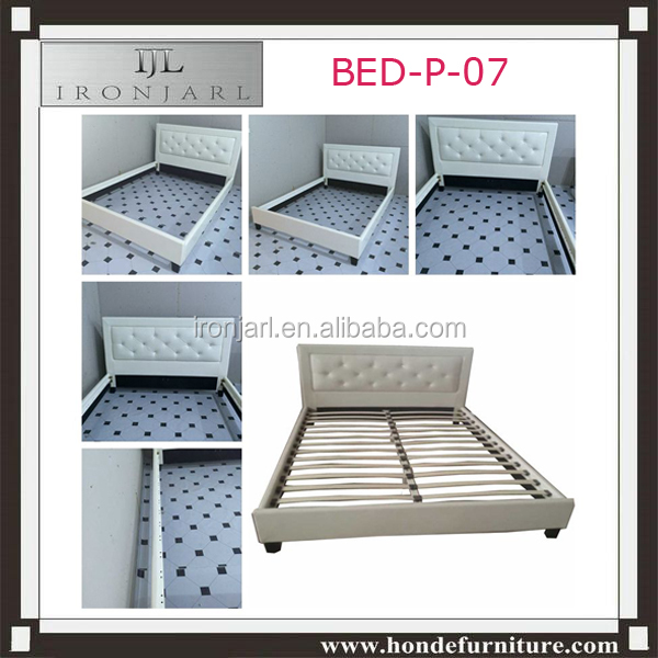 Bedroom Furniture European Design Leather King Queen Size Bed BED-P-07