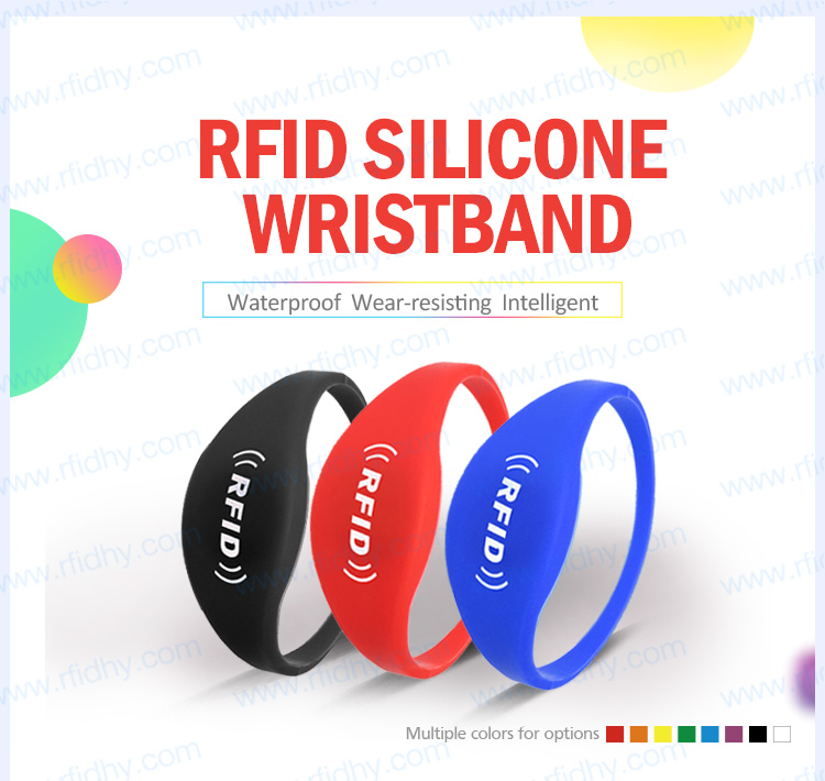 Wholesale Professional Optional Colorful 13.56MHz RFID Wristband