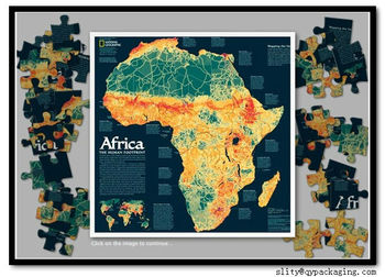 paper map jigsaw puzzle