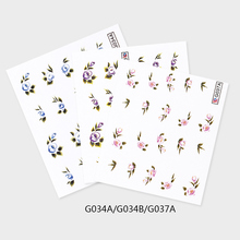 Free sample step by step Water Transfer Decals Nail art Holiday Design nail Sticker
