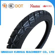 Popular top quality made in China natural rubber tire for motorcycles